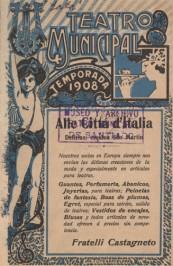 Programa Temporada Lírica, 1908