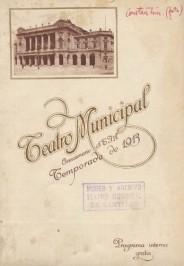 Programa Temporada Lírica, 1913