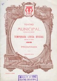 Programa Temporada Lírica, 1918
